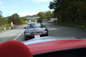 レイクライン出口での渋滞1