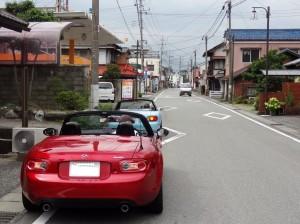 道中での後続車待ち